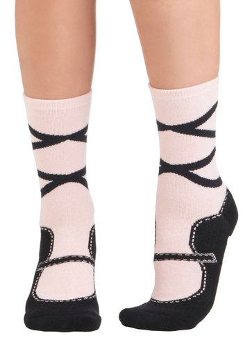 Landlord of the Dance Slipper Socks - Pink, Black, Knitted, Statement, Under $20, Quirky, Top Rated, Gals