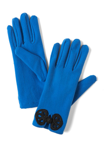 Glove Story in Royal Blue - Blue, Black, Solid, Winter, Party, Holiday Party, Film Noir