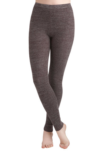 Team Cocoa Leggings - Brown, Grey, Casual, Rustic, Winter