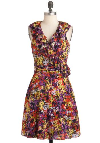Flickering Florals Dress
