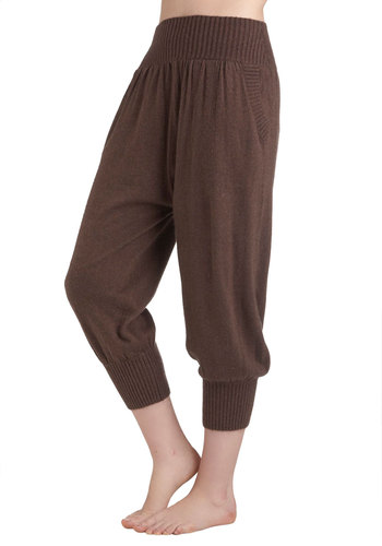 Log Cabin Lounge Pants in Mahogany - Brown, Solid, Pockets, Casual, Vintage Inspired, Rustic, Fall