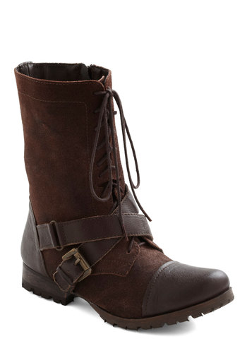 Like I Tread Boots - Low, Leather, Brown, Buckles, Lace Up, Casual, Safari, Rustic, Variation