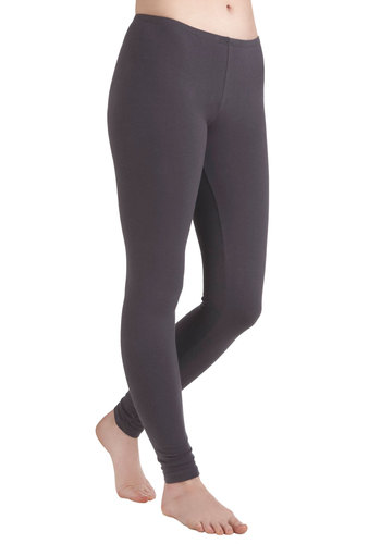 Ace of Basics Leggings in Charcoal - Jersey, Cotton, Grey, Solid, Casual, Skinny