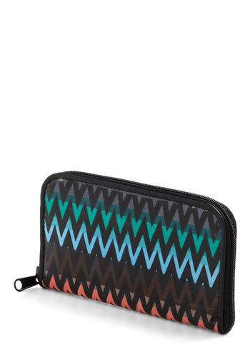 Get Ziggy With It Wallet - Black, Multi, Print