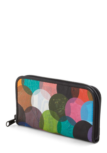Coin the Cause Wallet - Multi, Print, Colorblocking, 80s