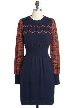 Navy Blue Dress on Blue Long Sleeve Dress   Modcloth Com