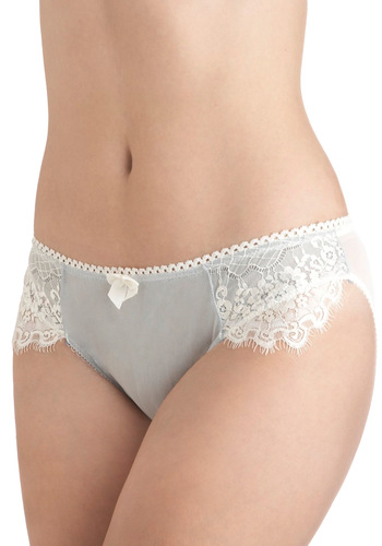 Blame It on Beauty Undies - Blue, Tan / Cream, Solid, Bows, Lace, Trim, Wedding, Vintage Inspired