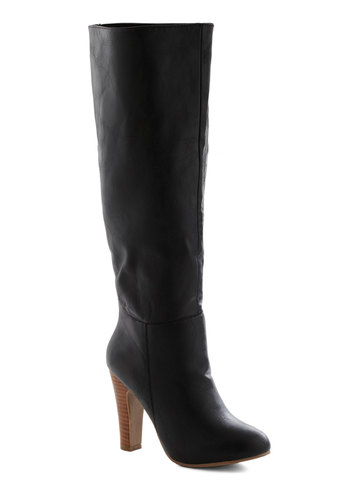 Rock and Stroll Boot - Black, Solid, High, Minimal, Tis the Season Sale