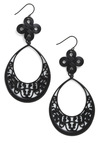 Wroughts of You Earrings - Black, Party, Vintage Inspired, Statement
