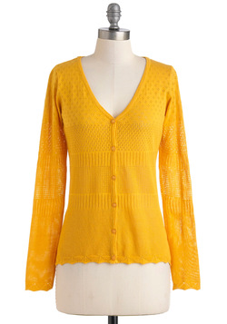 Sunny Side Wake Up Cardigan in Yellow