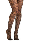 Net Worthwhile Tights - Black, Print