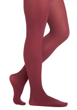 Layer It On Tights in Burgundy