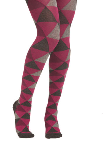Mathlete in Training Tights - Print, Pink, Grey