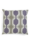 DwellStudio Plans Are Taking Shape Pillow by DwellStudio - Dorm Decor, Purple, Grey, Print