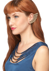 A Nice Wing to Its Earring Set - Gold, Solid, Statement, Urban