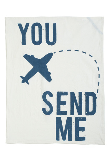 Flight and Fluffy Tea Towel - Blue, White, Minimal, Tis the Season Sale, Travel