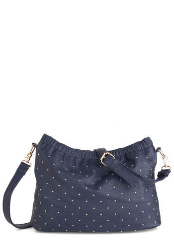 Concert Haul Bag - Blue, Solid, Studs