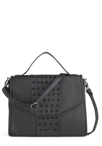 Impossible to Under-stud Bag - Black, Solid, Studs, Urban