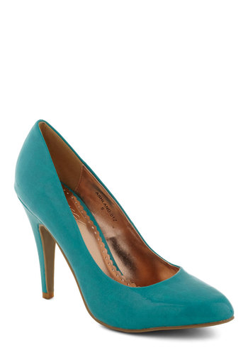 Updating a Classic Heel in Turquoise - Blue, Solid, High, Girls Night Out, Pinup, Variation