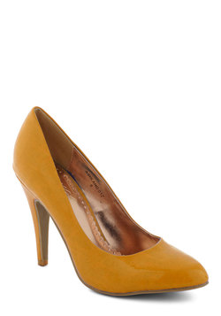 Updating a Classic Heel in Mustard