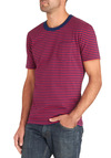 Guy in the Stripes Tee - Cotton, Red, Blue, Stripes, Casual, Nautical, Mid-length
