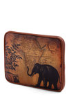 Sepia You Soon iPad Sleeve in Map - Faux Leather, Brown, Print with Animals, Travel
