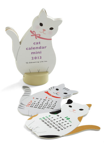 Year of the Critter 2013 Calendar in Cat - Multi, Print with Animals, Work, Quirky, Holiday
