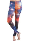 Cosmic Sea Leggings - Multi, Red, Orange, Blue, White, Print, Casual, Skinny, Statement