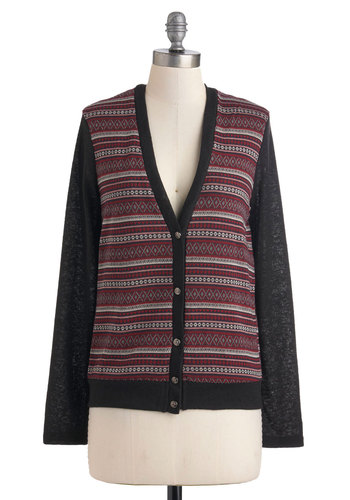 Neighborly Day Cardigan - Black, Buttons, Long Sleeve, Mid-length, Casual, Menswear Inspired, Fall, Tis the Season Sale