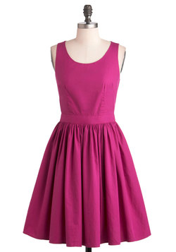 Honey-Dipped Cookies Dress in Magenta