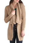 Lake Cottage Cardigan in Floating Dock - Tan, Solid, Casual, Rustic