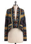 Rustic Dreams Cardigan by BB Dakota - Short, Multi, Print, Cocktail, Long Sleeve, Fall