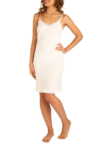 Aneath and Elegant Full Slip by Only Hearts - Solid, Lace, White, Trim