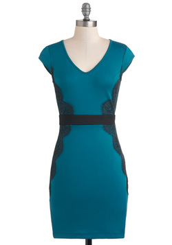 Up Teal Dawn Dress