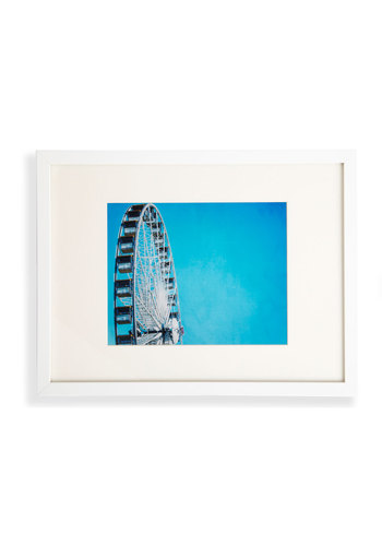 Wheel Good Time Framed Print - Blue, Dorm Decor, Vintage Inspired