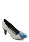 Dazzling Display Heel - Mid, Silver, Print with Animals, Blue, Special Occasion, Exclusives, Gifts Sale