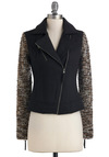 Haute Ticket Jacket - Short, Black, Brown, Grey, Casual, Long Sleeve, 1