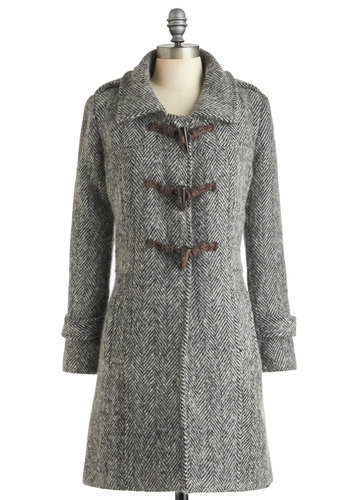 Ropes and Dreams Coat by Nick & Mo - Black, Tan / Cream, Military, Long Sleeve, Long, 3, Pockets, Winter