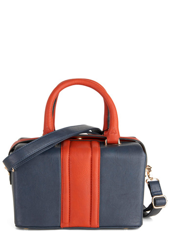 The Doctor is In Style Bag - Blue, Orange, Colorblocking
