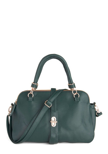 Duo Diligence Bag - Green, Solid, Casual