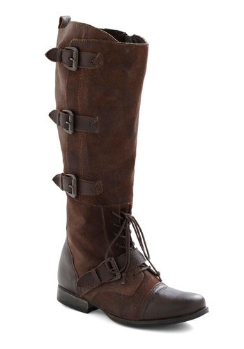 Bread and Buckle Boot - Low, Leather, Brown, Buckles, Rustic, Lace Up, Fall