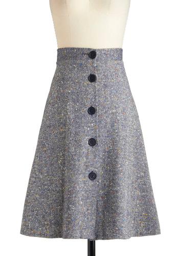 Vintage Silver Screenwriter Skirt