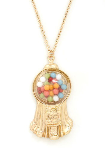 Belle of the Gumball Necklace - Gold, Multi