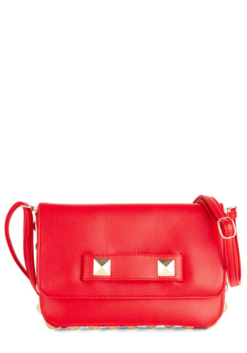 On Fiery Bag - Red, Solid, Studs, Girls Night Out