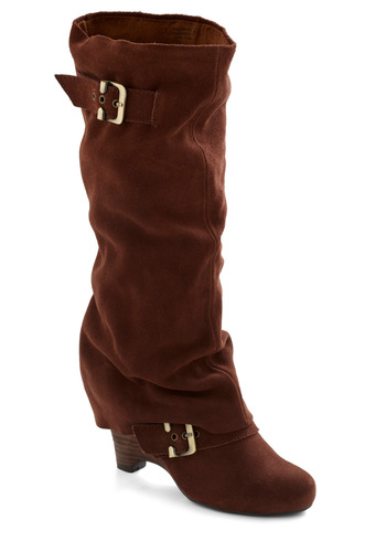 Good as Fold Boot - Mid, Leather, Brown, Red, Buckles, Boho, Fall