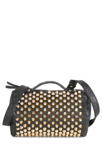 Rock Star Chic Bag - Black, Gold, Solid, Studs, Statement, Urban
