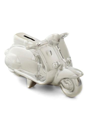 Savings Fun Bank by Present Time - Silver, Urban, Mod, Minimal