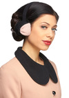 Chelsea Pearls Earmuffs by Alice Hannah London - Black, Pink, Pearls, Winter
