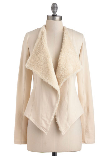 Cozy at Courtside Jacket - Cotton, Mid-length, 1, White, Solid, Work, Long Sleeve, Casual, Rustic, Fall