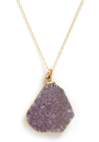 Geode to Beauty Necklace by Dara Ettinger - Purple, Gold, Solid, Chain, Multi, Party, Luxe, Statement, Graduation